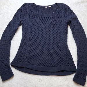Blue Knitted Moth Sweater Size Small
